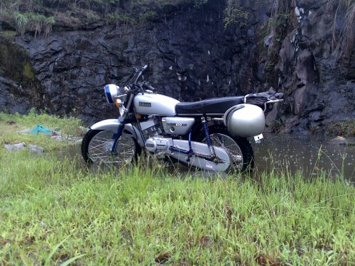yamaha rx 100 trip, the monsoon ride